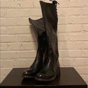 Bed Stu Black Hand Wash Manchester Boot